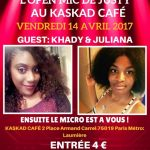Be Yourself Open Mic Vendredi 14 Avril 2017